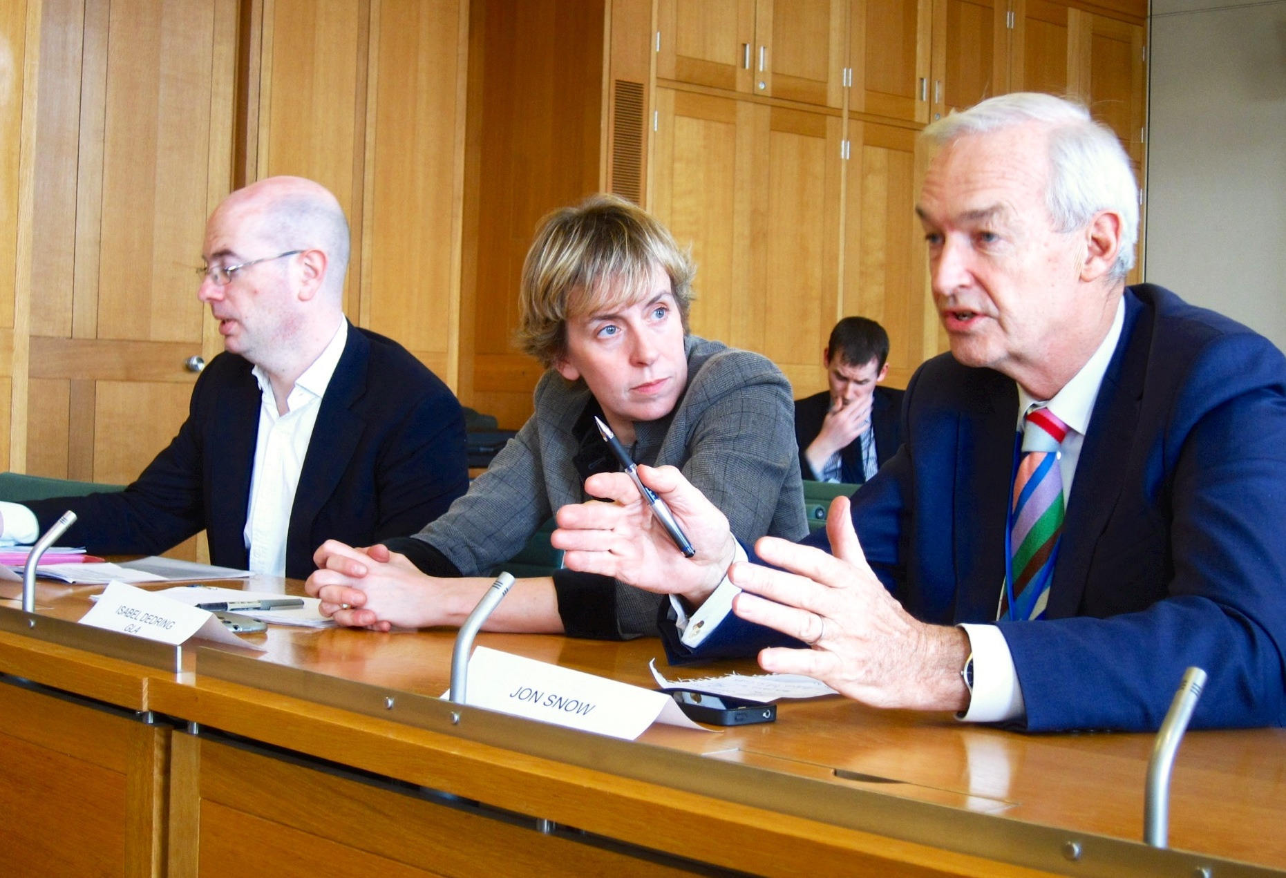 Jon Snow gives evidence to the Get Britain Cycling Inquiry